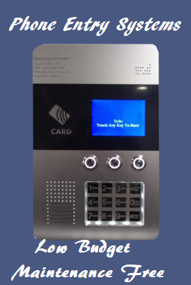 Outdoor Rated F-U2 RFID Card Operated Access Control